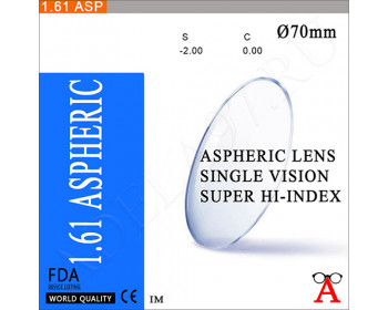 Aspheric Super Hi-Index 1.61