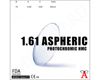 Aspheric Photochromic HMC 1.61