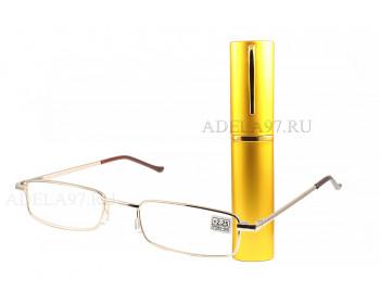 Очки готовые (+) «Ручка» золотой
