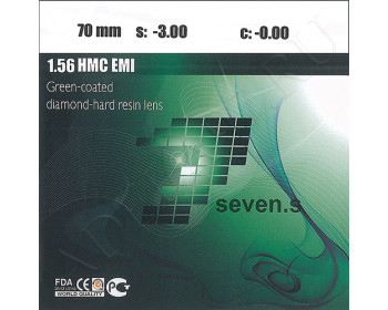 1.56 HMC Green-Coated Diamond-Hard Resin Lens