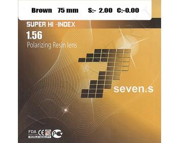 1.56 Super Hi-Index Polarizing Resin Color Lens 85% brown/gray
